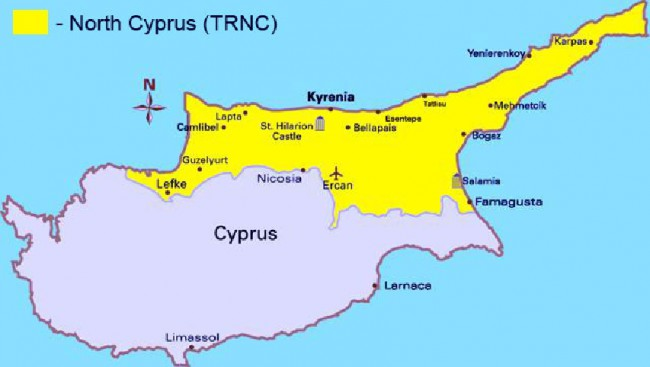 Northcyprusfilm cyprus map by comparison to other mediterranean islands the pace of life here is somewhat laid back and the island is not over populated so filming can gumiabroncs Image collections