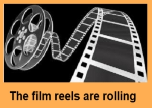 film reels are rolling